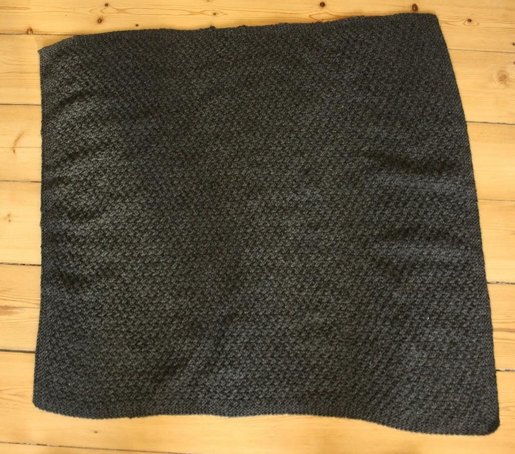 Strikket tæppe