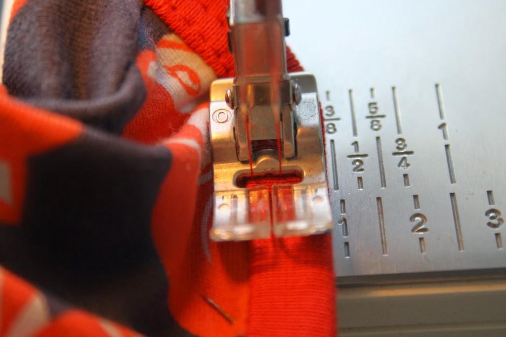 DIY ribrouleau på symaskine