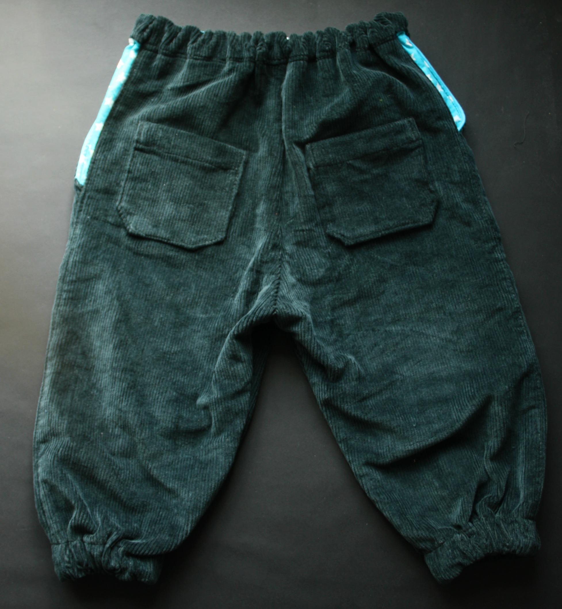 Morfar bukser med stjernedetaljer