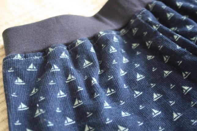 Maritime shorts med anker