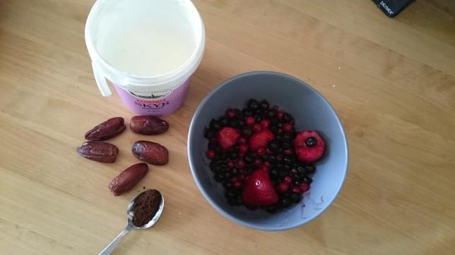 Hjemmelavet bæryoughurt ingredienser