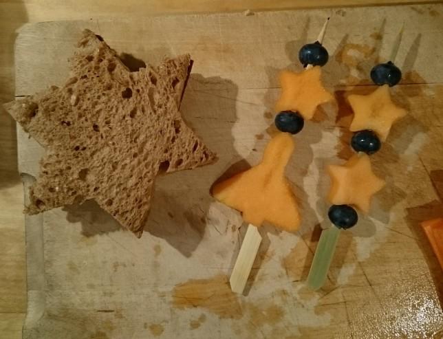 Madpakke rumfeber stjerner frugtspyd
