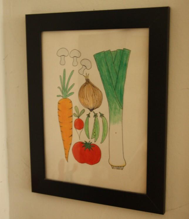Grøntssagsbillede legekøkken