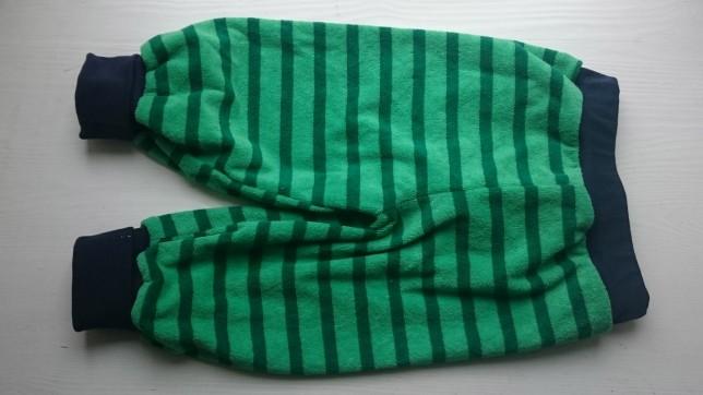 Bukser i grøn frotté