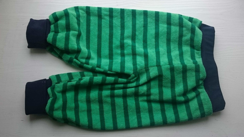 Stribede grønne frottébukser
