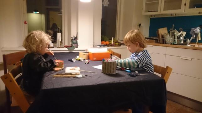 Julegaver laves af børnene