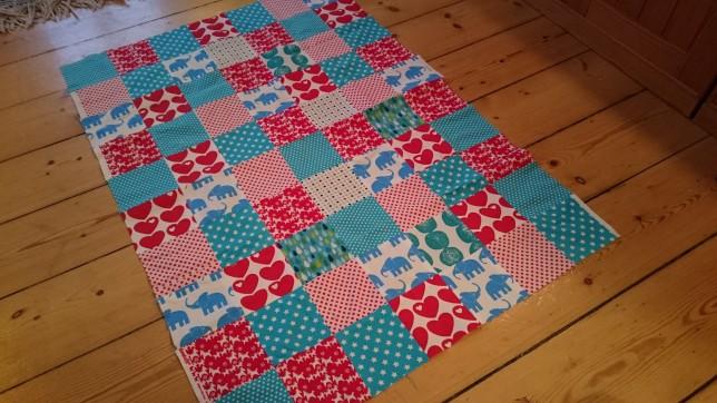 Babytæppe patchwork