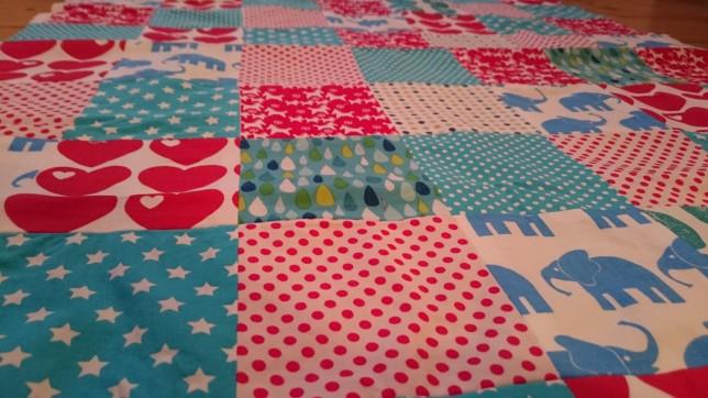 patchworktæppe til baby