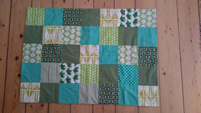 patchworktæppe grønt