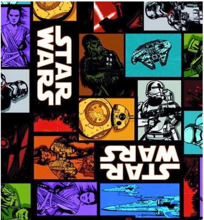 Star Wars print stof
