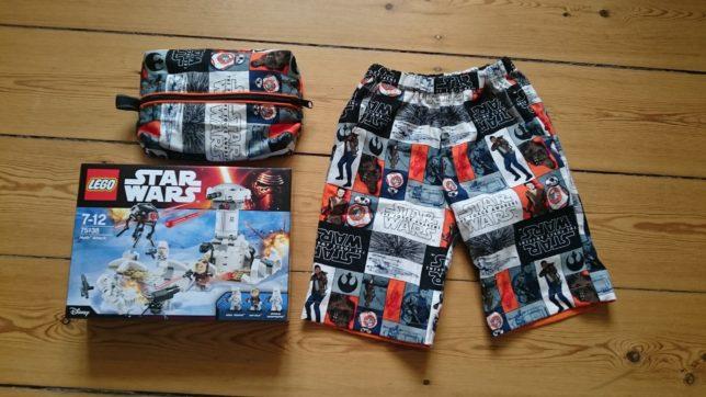 Star Wars sæt taske shorts og lego